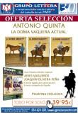 OFERTA SELECCIÓN. LA DOMA VAQUERA ACTUAL CON ANTONIO QUINTAS 3 DVD´S +GUÍA PRÁCTICA EDICIÓN ESPECIAL +PEGATINA EXCLUSIVA