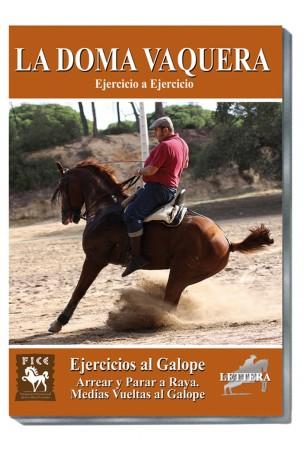 Doma Vaquera Ejercicio a ejercicio. 08) EJERCICIOS AL GALOPE. Arrear y parar a raya. Medias vueltas al galope.