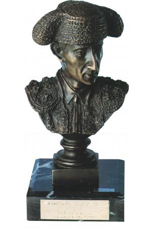 BUSTO TORERO. MANOLETE DE BRONCE